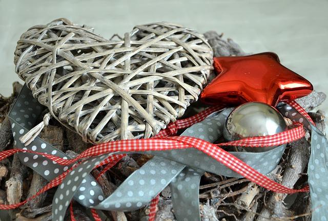 編みこみのハート