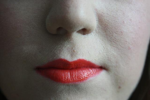 唇のアップ