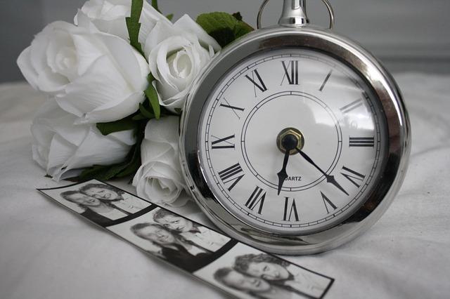 懐中時計と写真