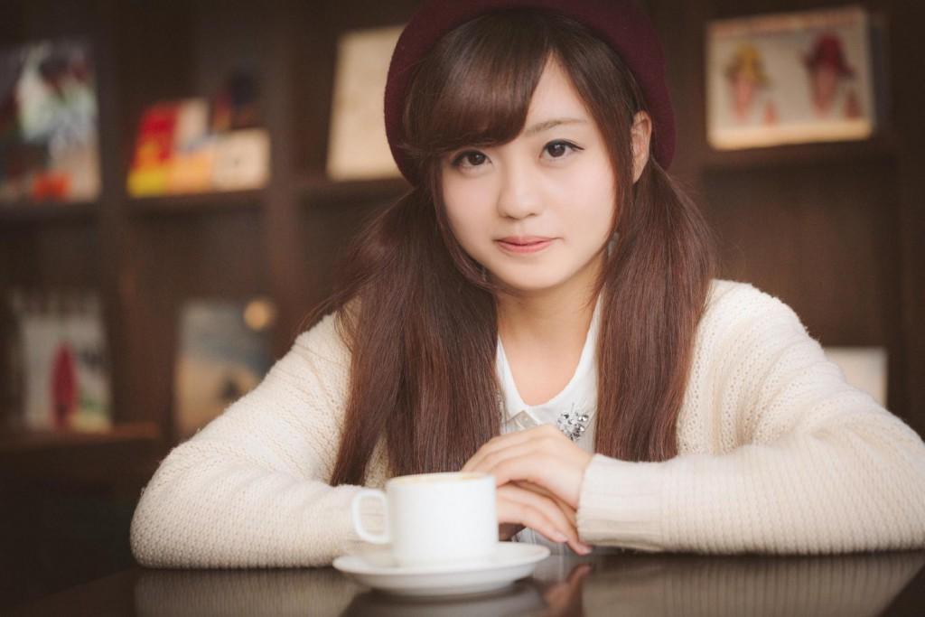 カフェでお茶