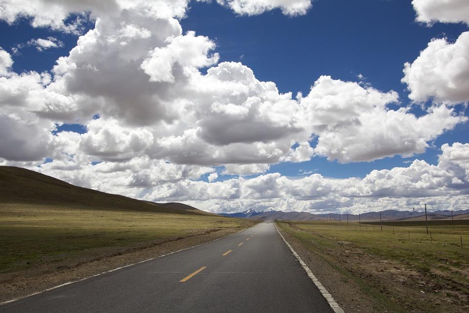 地平線と道路