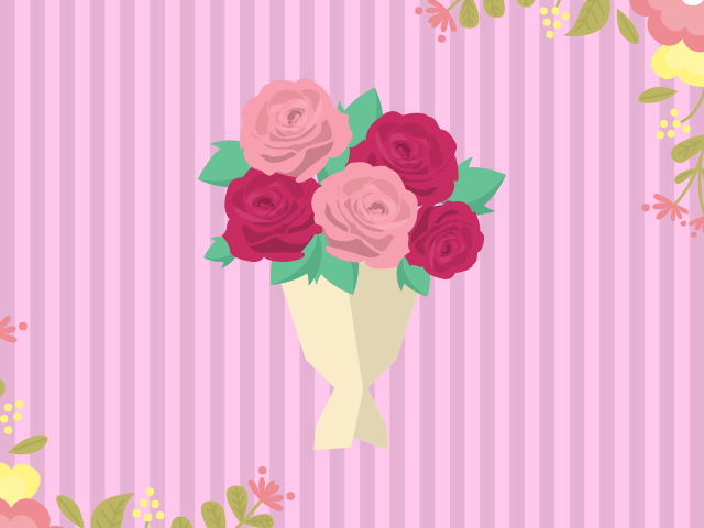 デートでくれた花束